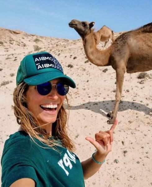 Laury Thillmann a fait un selfie... au poil !