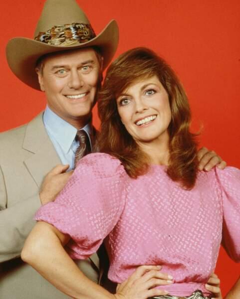 Larry Hagman et Linda Gray, le couple infernal de la série, étaient déjà très liés à l'époque…