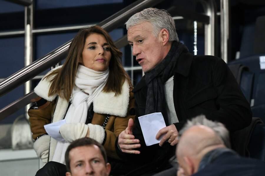 Didier Deschamps est venu superviser quelques joueurs, en compagnie de sa femme Claude