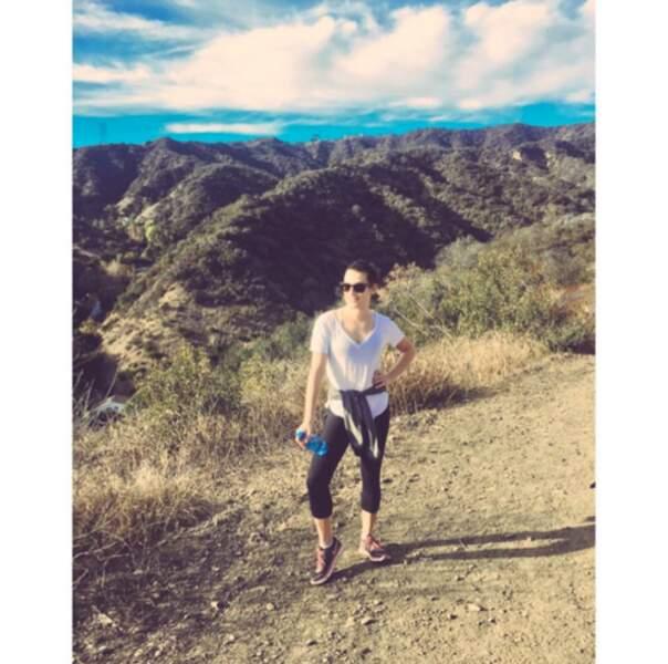 Et comme Vin, d'autres people préfèrent se dépenser en extérieur. Rando pour Lea Michele...