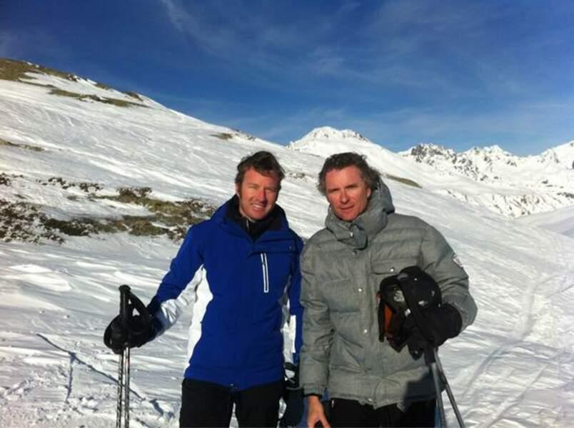 Denis Brogniart aussi est allé au ski, et pas avec n'importe qui !