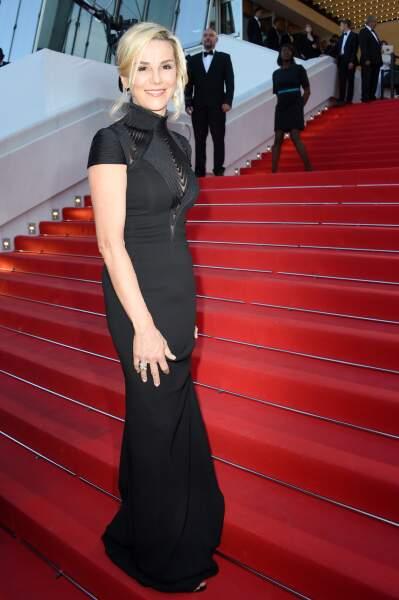 Laurence Ferrari, élégante mais peut-être un peu trop stricte dans sa robe noire