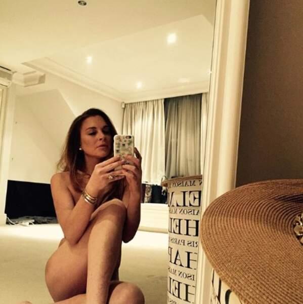Lindsay Lohan en tenue d'Eve.