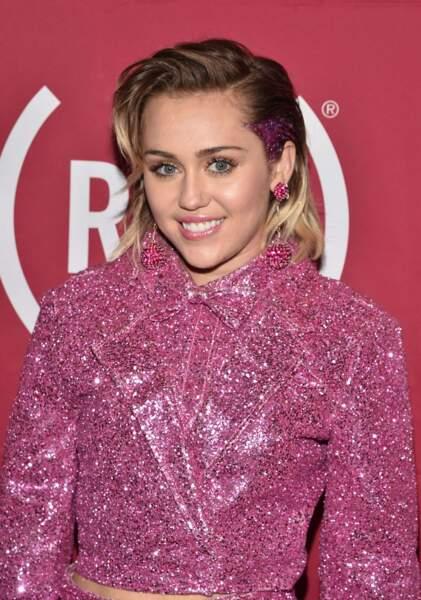 """Miley Cyrus a été élue """"végétarienne la plus sexy"""" en 2015 par Peta."""