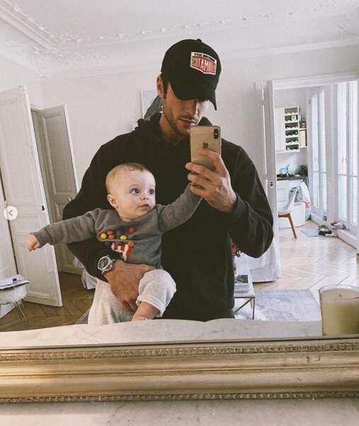 Selfie père-fils pour Hugo Philip et Marlon.