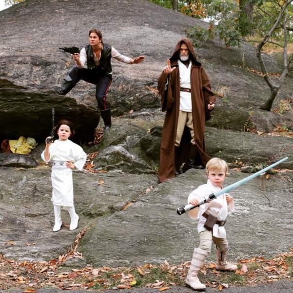 Génial : Neil Patrick Harris, David Burtka et leurs jumeaux se sont inspiré de Star Wars cette année.