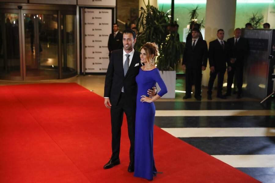 Autre joueur de Barcelone et de la sélection espagnole invité : Sergio Busquets, venu avec sa femme Elena Galera