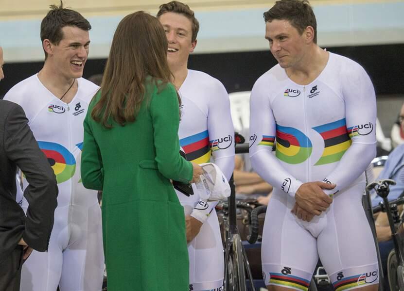 Kate a rencontré un paquet de sportifs !
