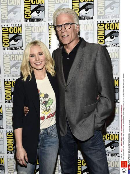 Kristen Bell et Ted Dansen pour la série The Good Place