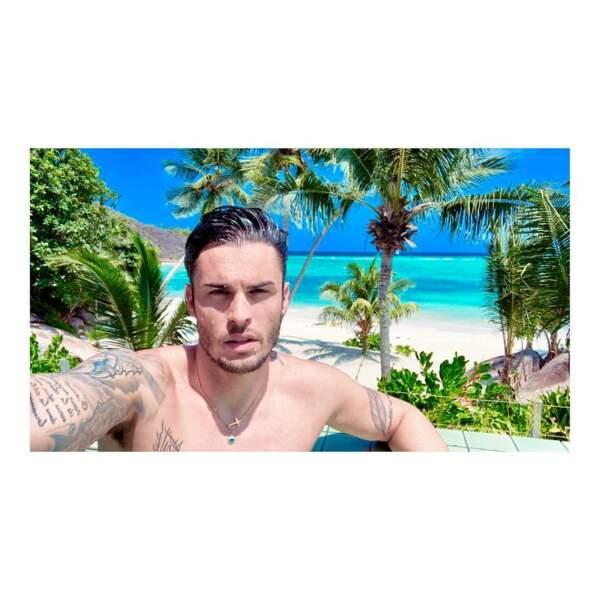 En vacances aux Seychelles.