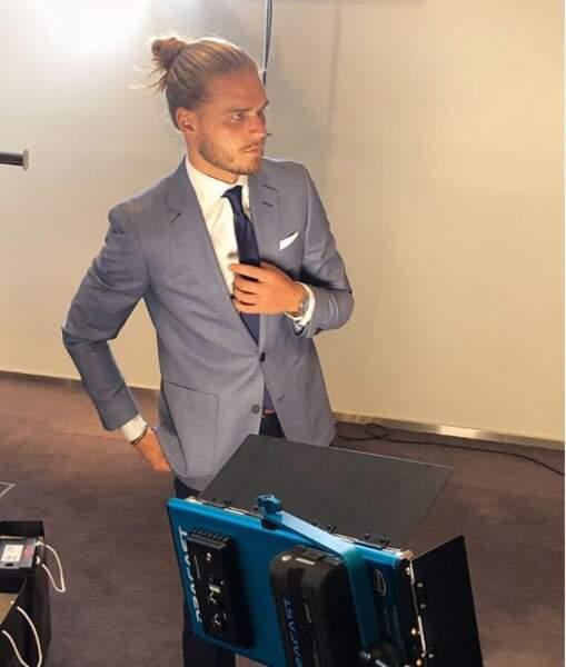 Rurik Gislason est footballeur, mais aussi mannequin