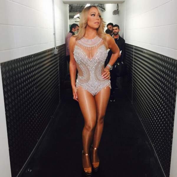 Mariah Carey a sorti son plus bel habit de lumière pour sa nouvelle tournée.