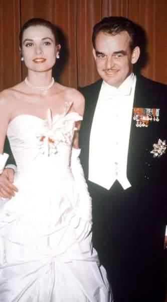 Le Prince Rainier de Monaco et Grace Kelly, décédée le 14 septembre 1982.