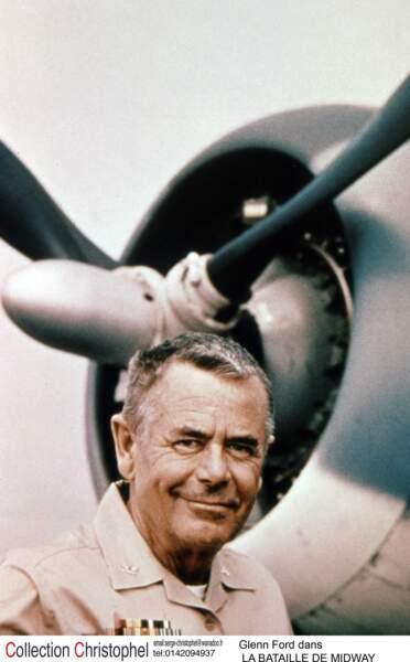 L'Amiral Raymond A. Spruance (Glenn Ford) prêt au combat dans La bataille de Midway (1976)