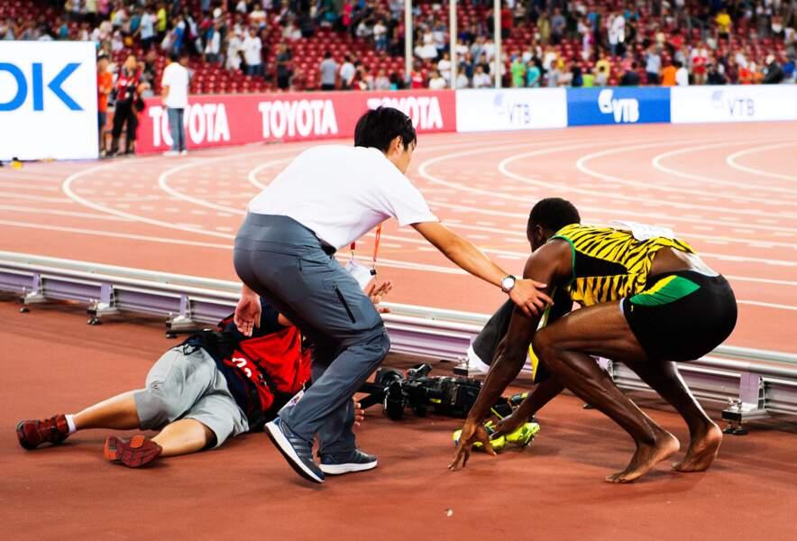 27 août, Impérial sur la piste, Usain Bolt n'a été fauché que par... un segway à Pékin
