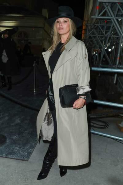 Chez Saint Laurent, on a pu compter sur la présence de Kate Moss.