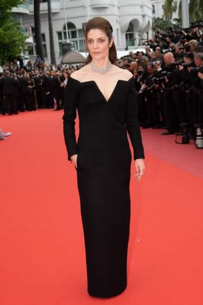 Pour Chiara Mastroianni, noir c'est noir !