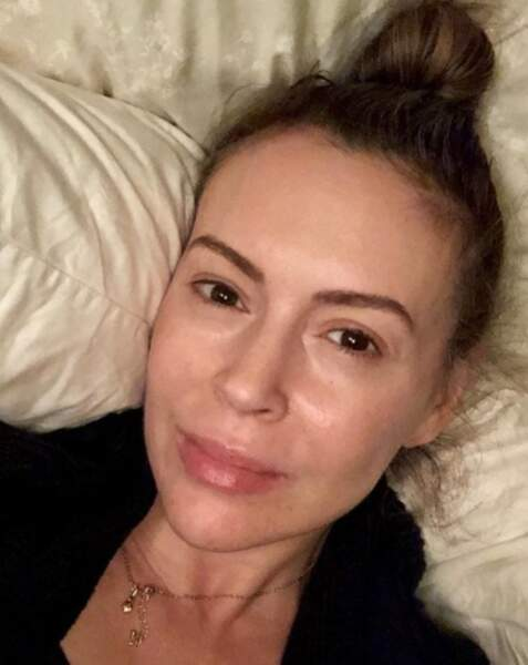 Alyssa Milano s'est dévoilée sans filtre et sans make-up.