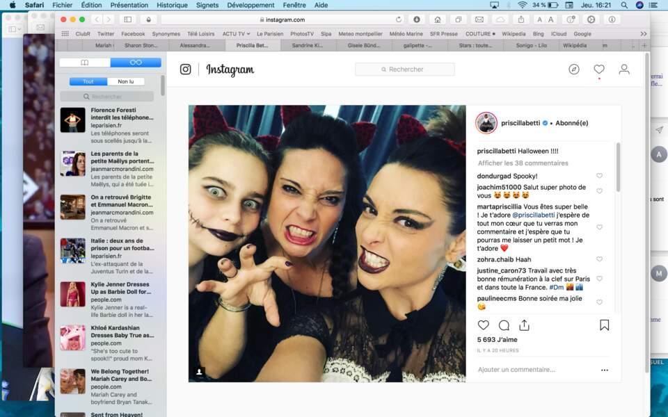Priscilla Betti et ses copines, adorablement gothiques