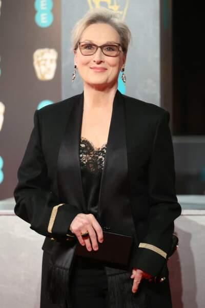 De son côté, Meryl Streep était très classe pour la 70ème édition des BAFTA