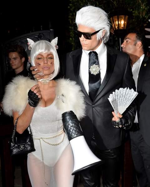 Fergie et son mari Josh Duhamel étaient Choupette et Karl Lagerfeld.