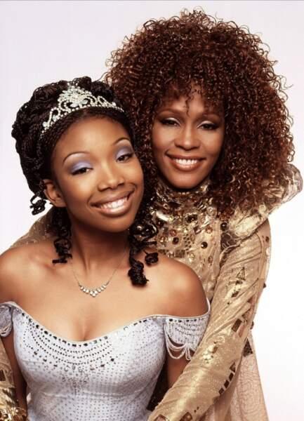 "Brandy Norwood et Whitney Houston dans ""La Légende de Cendrillon"" en 1997"