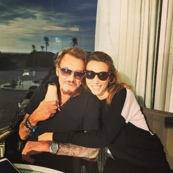 Eh oui, Laura est très proche de son papa, le grand Johnny Hallyday !