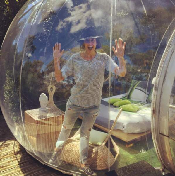 L'actrice aime se retrouver dans sa bulle, en pleine nature...