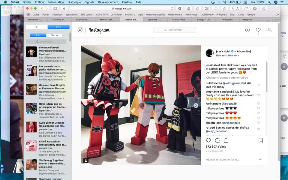 Jessica Biel, Justin Timberlake et leur petit Silas étaient en mode Lego…