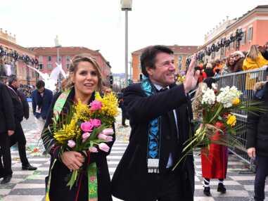 Christian Estrosi et sa femme Laura, très complices au Canaval de Nice