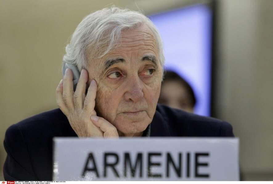 Charles Aznavour a aussi été ambassadeur d'Arménie en Suisse