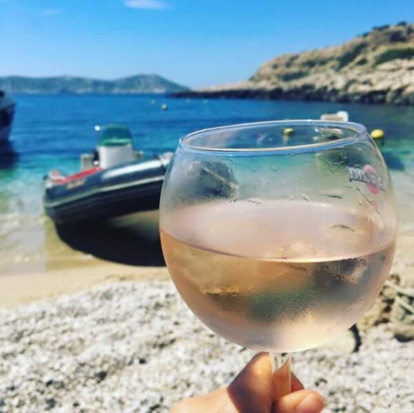 Et ses cocktails au rosé !