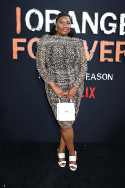Adrienne C. Moore avait opté pour une robe léopard