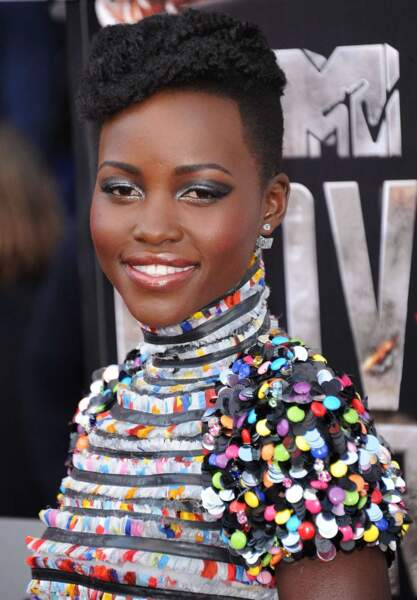 Lupita Nyong'o lors de la cérémonie des MTV Movie Awards (2014)
