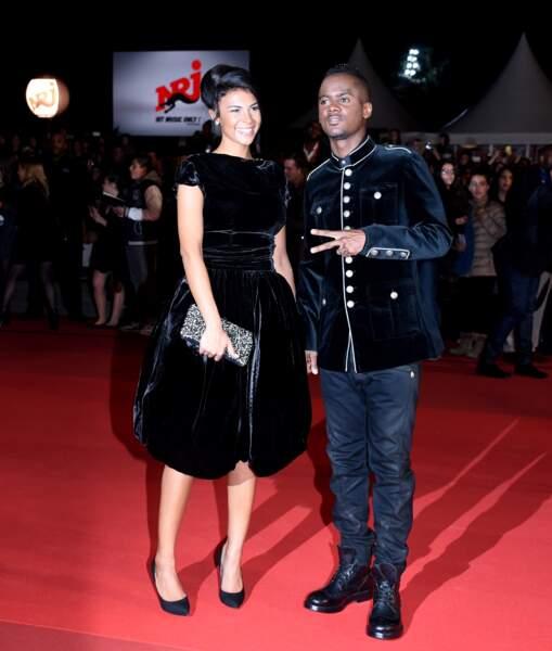 Black M et sa compagne sur le tapis rouge des NRJ Music Awards