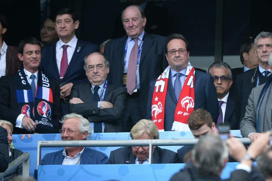 Le président Hollande et Noel le Graët, président de la FFF, n'auraient manqué ce match pour rien au monde