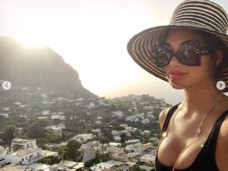 Nicole Scherzinger avait une vue de rêve à Capri.