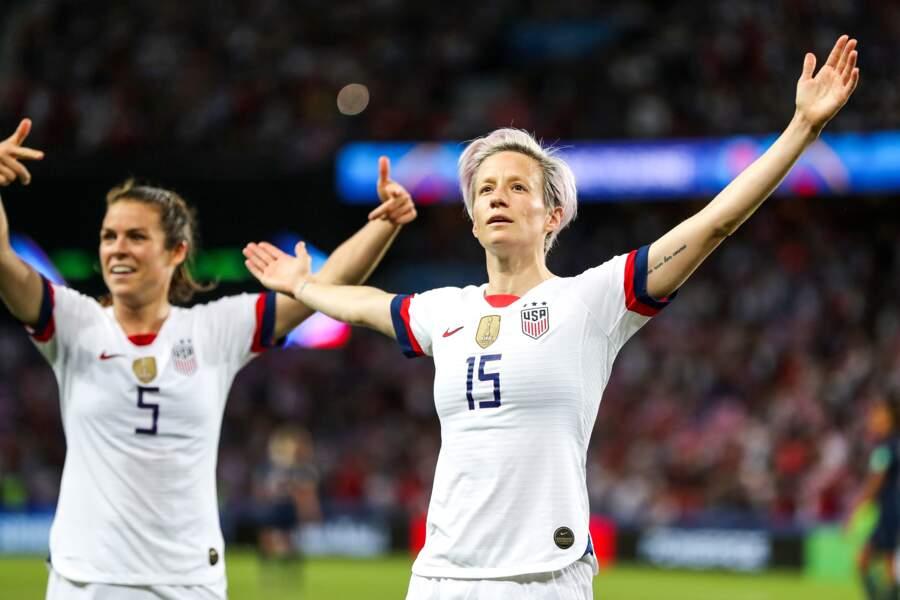 """La footballeuse américaine Meghan Rapinoe a inscrit """"La nature suit son cours"""""""