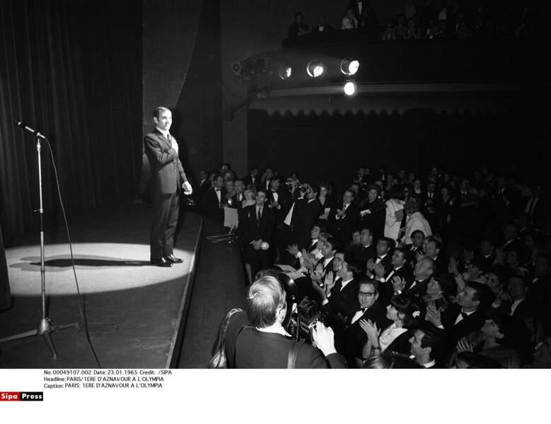 La première d'Aznavour à l'Olympia