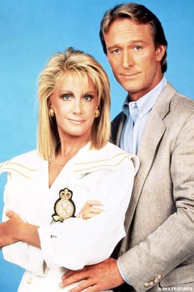 Gary et sa femme Valène (Joan Van Ark) dans Côte Ouest, la série dérivée de Dallas
