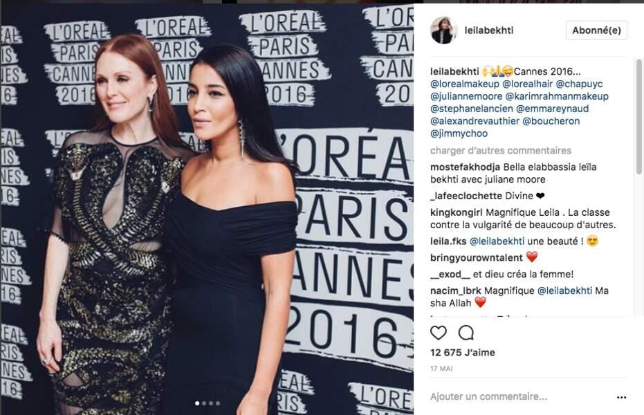 Sublime aux cotés de Julianne Moore, à Cannes en 2016