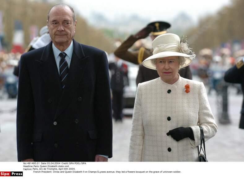 Queen Elizabeth avec laquelle il avait une relation très cordiale...
