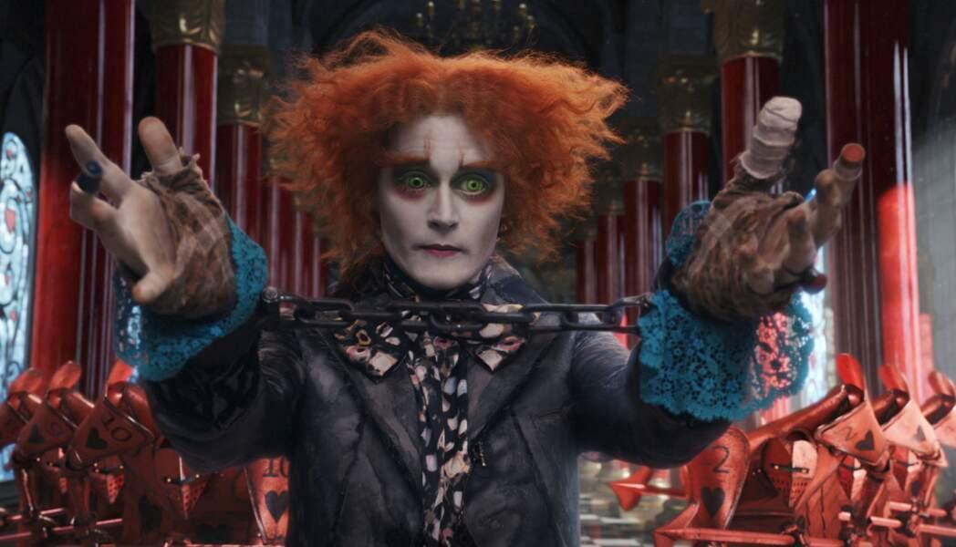 En chapelier fou dans Alice au pays des merveilles (2010), toujours sous la direction de Tim Burton