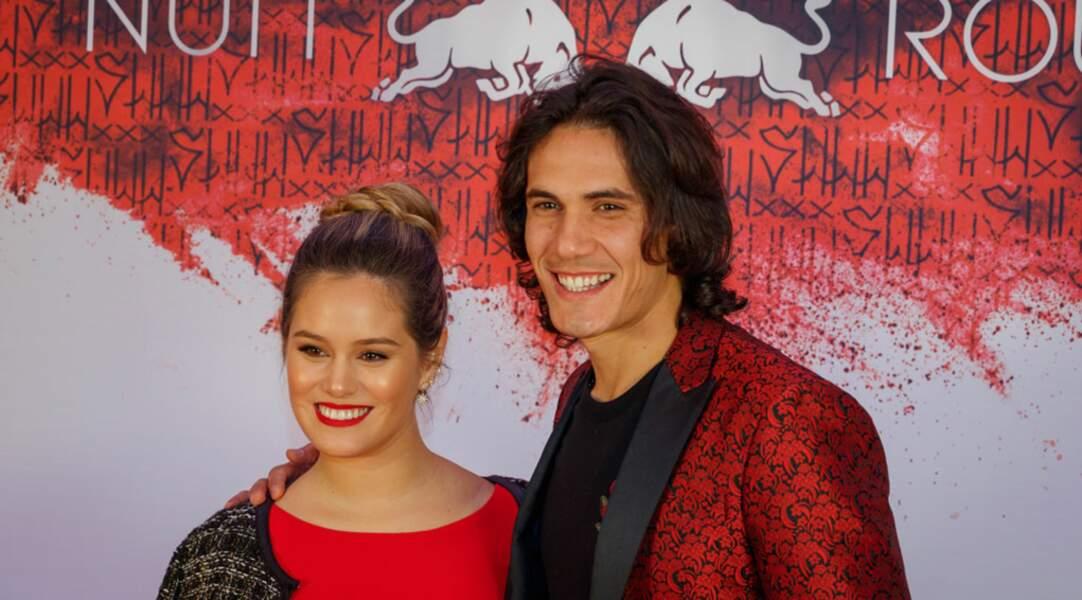 Edinson Cavani était présent pour l'occasion, avec sa compagne Jocelyn Burgardt
