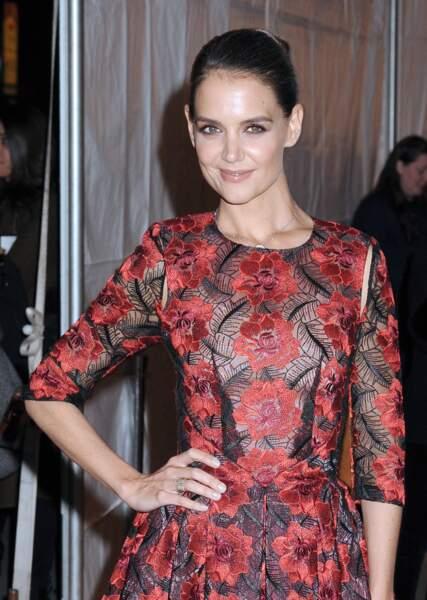 Et Katie Holmes était simplement renversante en robe à fleurs rouges ! N'est-ce pas ?