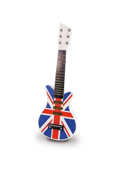 Pour les apprentis rockeurs, cette guitare branchée sera parfaite !