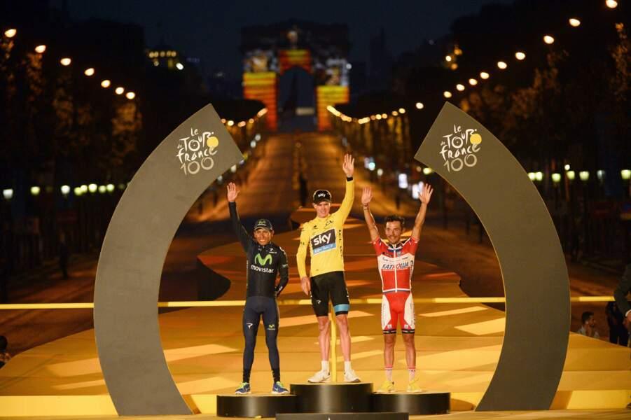 Le podium final du Tour de France 2013.
