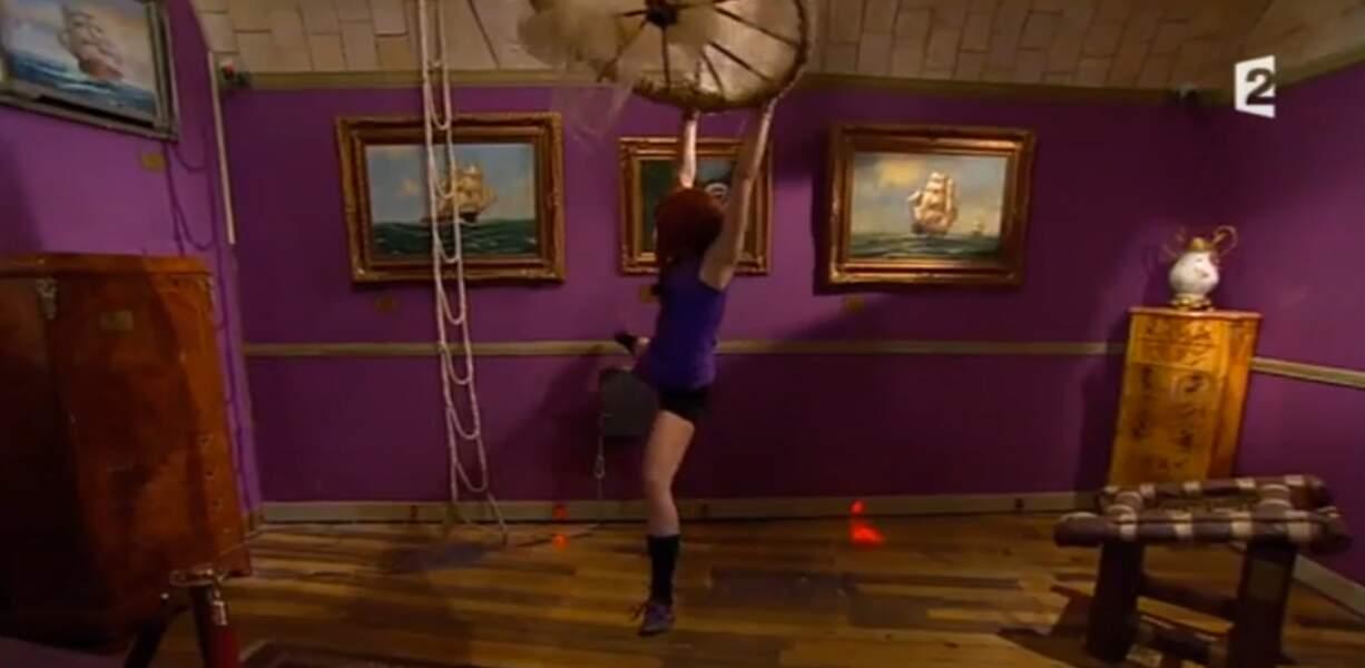 Anaïs Delva a fait quelques acrobaties dans le Museum
