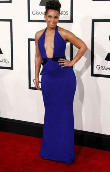 Alicia Keys, elle, a préféré opter pour le bleu