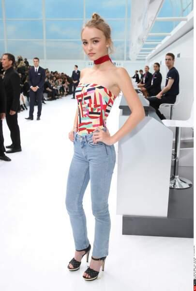 Paris, juin 2015 Lily Rose Depp défile pour la première fois pour Chanel